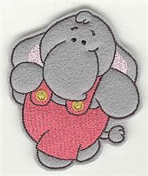 Feltie Elephant embroidery design