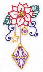 Poinsetta & Ornament embroidery design