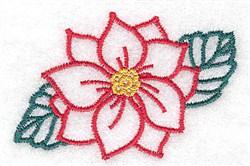 Poinsetta embroidery design