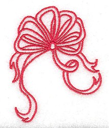 Christmas Ribbon embroidery design