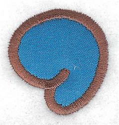 Comma applique embroidery design