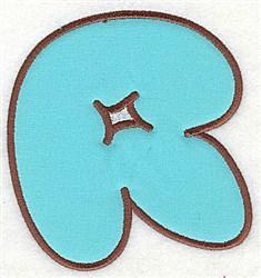R Applique Font embroidery design