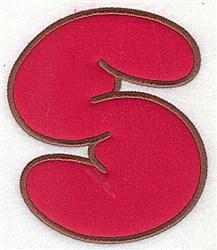 S Applique Font embroidery design