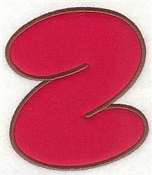 Z Applique Font embroidery design