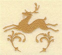 Deer Swirl embroidery design