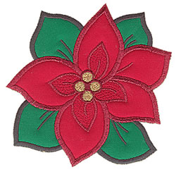 Poinsetta Applique embroidery design