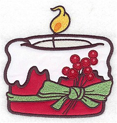 Christmas Candle embroidery design