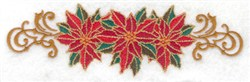 Poinsettia Trio embroidery design