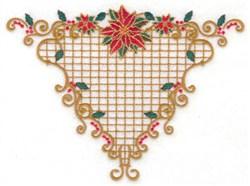 Poinsettia Triangle embroidery design