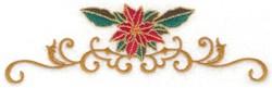 Poinsettia & Swirly Border embroidery design