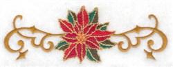 Poinsettia & Vines embroidery design