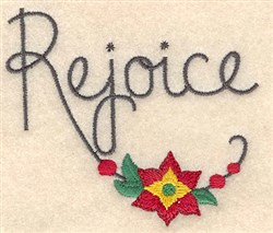 Christmas Rejoice embroidery design