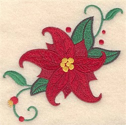 Christmas Poinsettia embroidery design