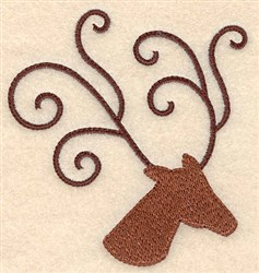 Reindeer Antler embroidery design