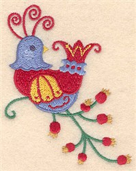 Christmas Partridge embroidery design