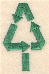 Recycle Christmas Tree embroidery design
