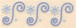 Winter Border embroidery design