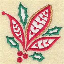 Christmas Paisley embroidery design