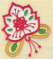 Christmas Maple Leaf embroidery design