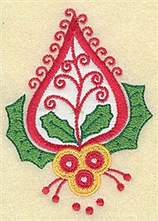 Christmas Paisley design G applique embroidery design