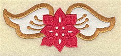 Christmas WIngs embroidery design