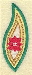 Poinsettia Leaf embroidery design