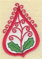 Holiday Paisley embroidery design