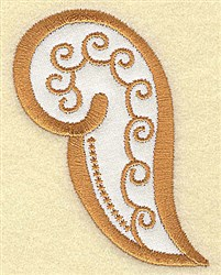 Angel Paisley embroidery design