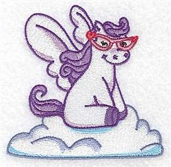 Cute Pegasus embroidery design
