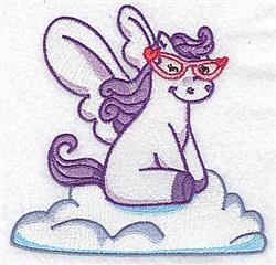 Pegasus On Cloud embroidery design