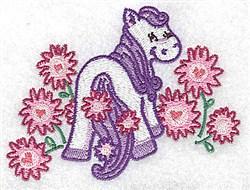 Pegasus & Flowers embroidery design