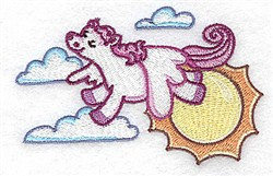 Pegasus In Clouds embroidery design
