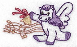 Musical Pegasus embroidery design