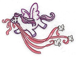 Pegasus With Birds embroidery design