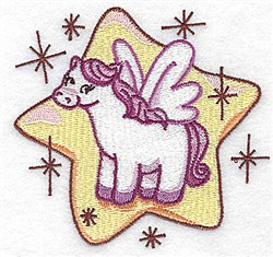 Pegasus On Star embroidery design