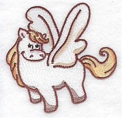 Shy Pegasus embroidery design