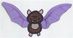 Bat body appliqe embroidery design