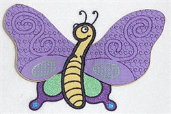 Butterfly body applique embroidery design