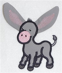 Donkey body applique embroidery design