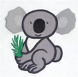 Koala bear body double applique embroidery design