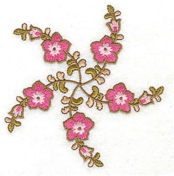 Carousel Flowers embroidery design