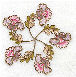 Scalloped Floral embroidery design