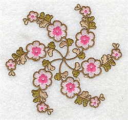Pink Petals embroidery design