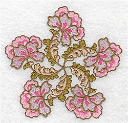 Floral Array embroidery design