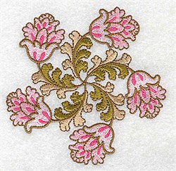 Swirly Floral embroidery design
