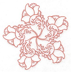 Fancy Floral embroidery design