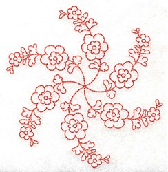 Flower Petals embroidery design