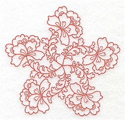 Floral Blossoms embroidery design