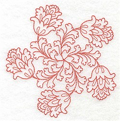 Flower Swirl embroidery design