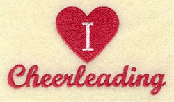 I Love Cheerleading embroidery design